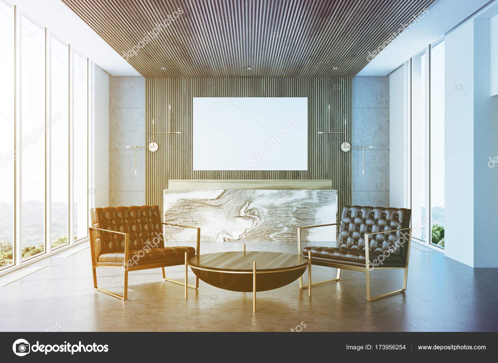 Reception Ufficio Legno : Grigio e legno ufficio reception poltrone tonica u foto stock