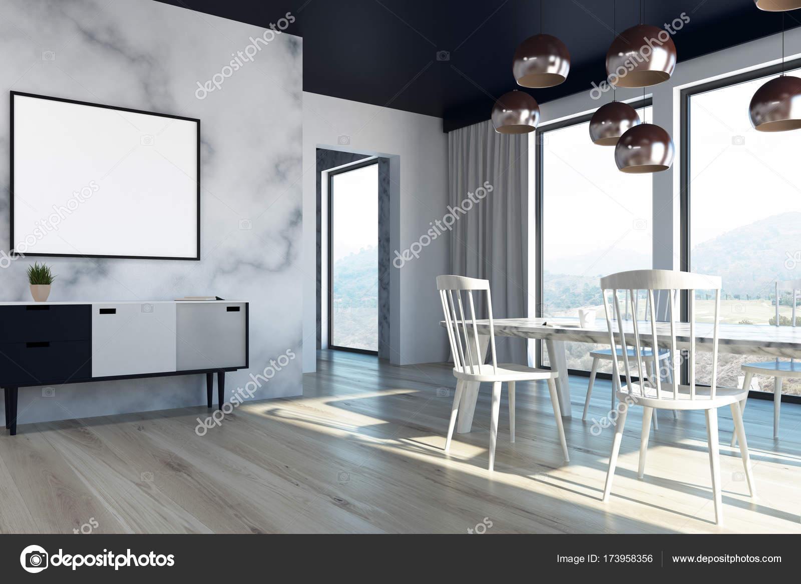 Canto De Sala De Jantar Em M Rmore Fotografias De Stock  -> Sala De Jantar Pequena Com Mesa De Marmore