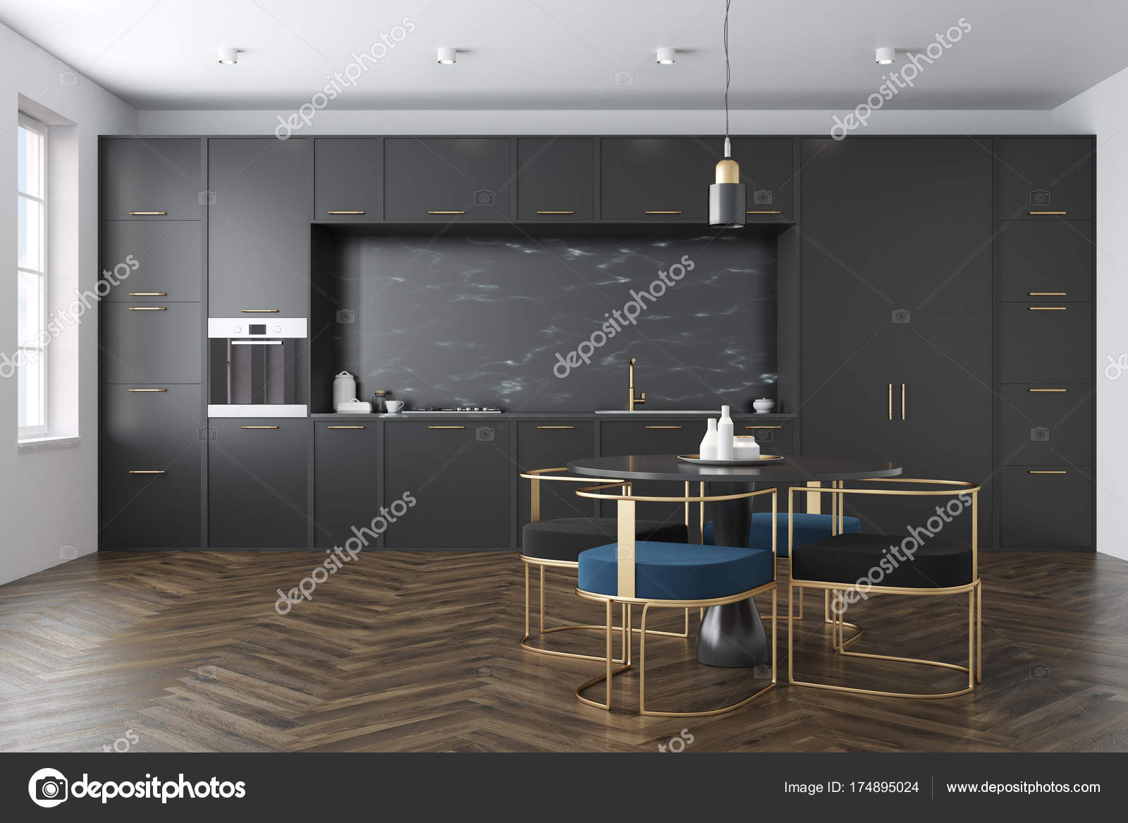 schwarze kche beautiful fototapete vector schwarze kche. Black Bedroom Furniture Sets. Home Design Ideas