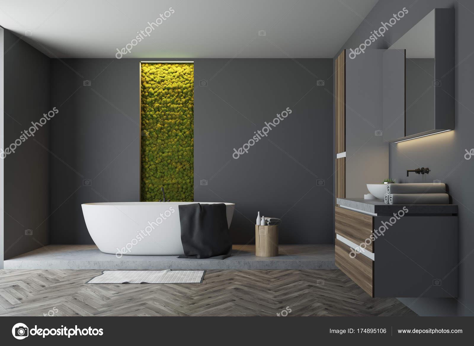Mur de salle de bain gris, vert — Photographie denisismagilov ...