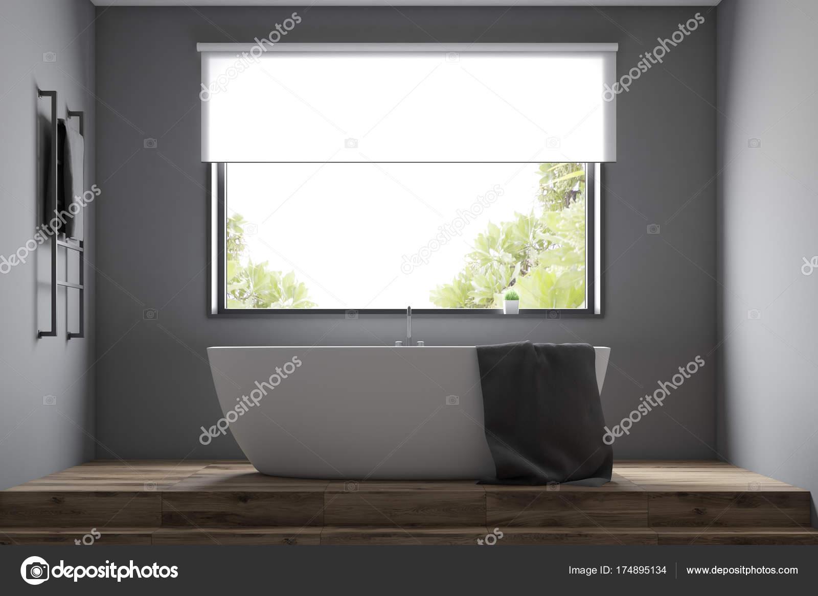 Chiuda l 39 interno del bagno moderno grigio foto stock denisismagilov 174895134 for Bagno moderno grigio