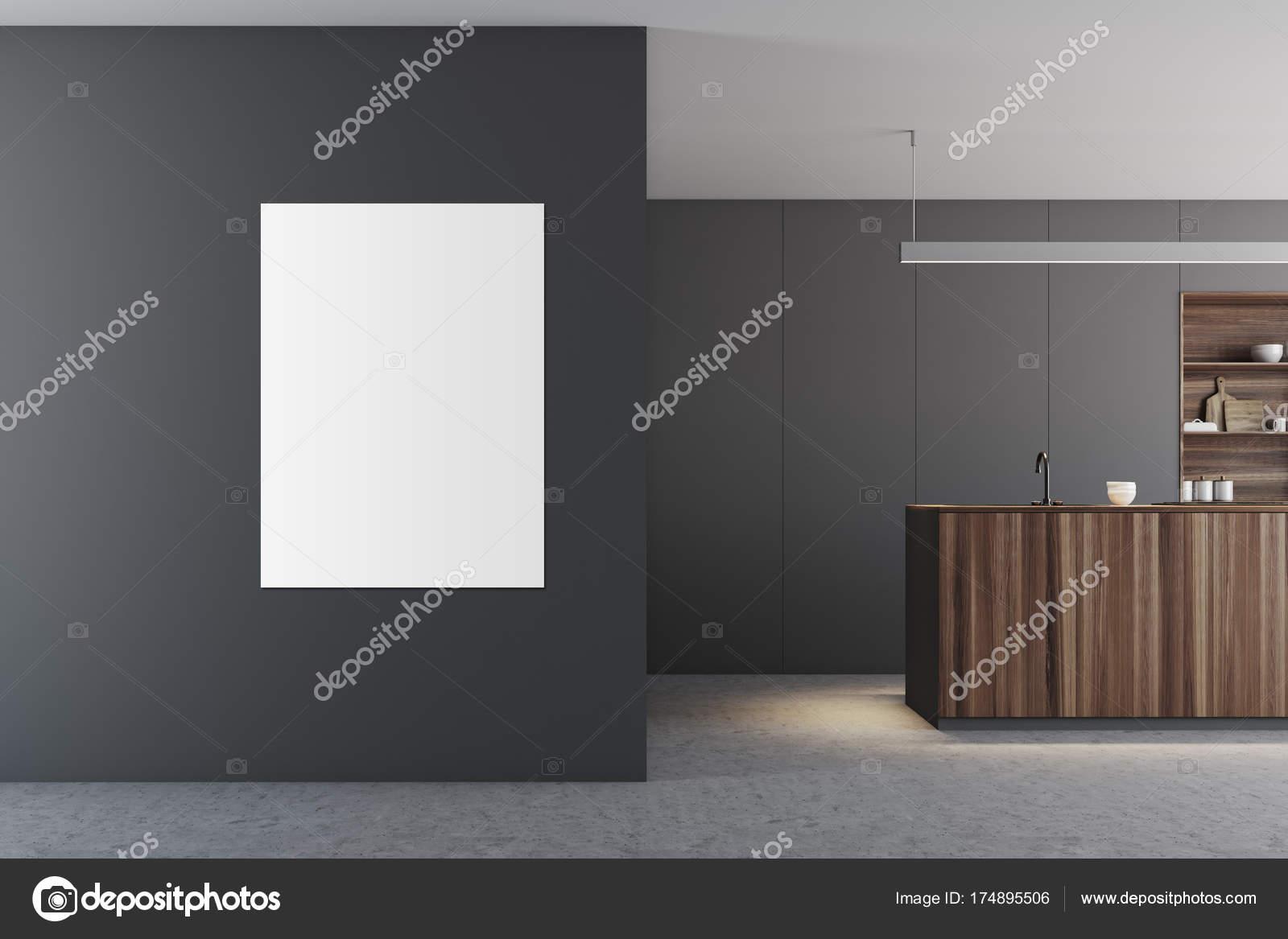 Grey Keuken Houten : Grijze keuken houten bar poster u stockfoto denisismagilov