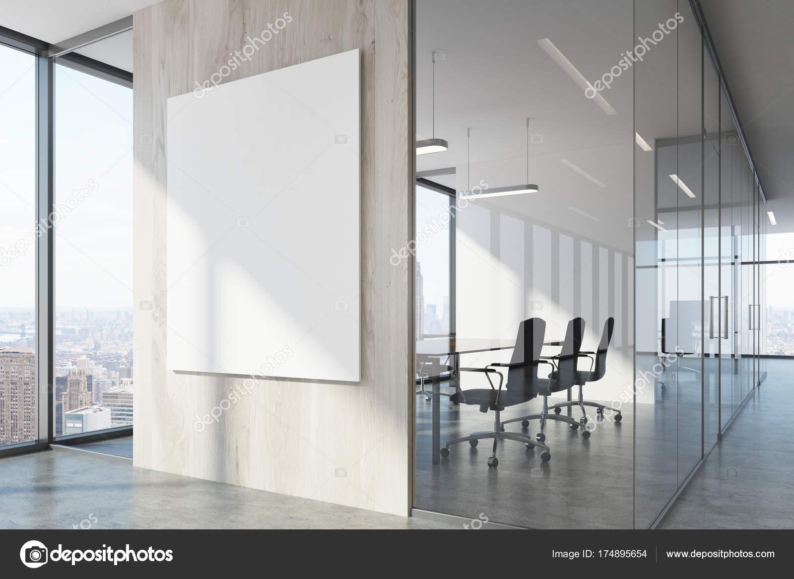 Ufficio Legno Bianco : Ufficio di legno bianco in attesa e sala conferenze u2014 foto stock