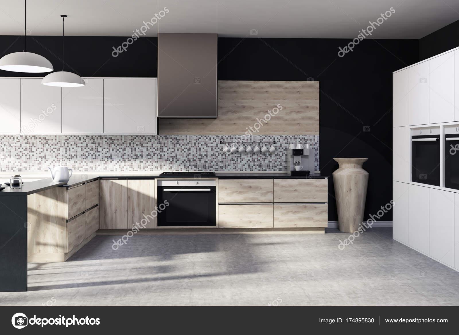 Kuchnia Czarne Mozaiki Zdjęcie Stockowe Denisismagilov