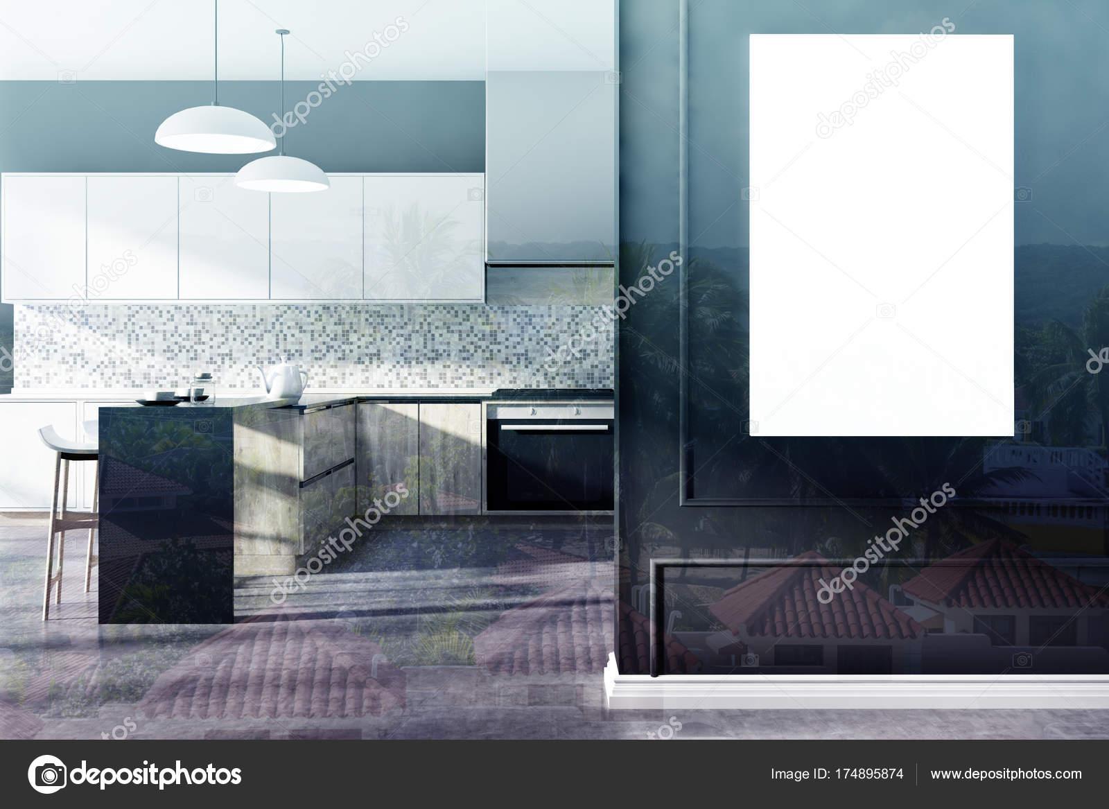 Mozaika Czarna Kuchnia Plakat Pokój Dwuosobowy Zdjęcie