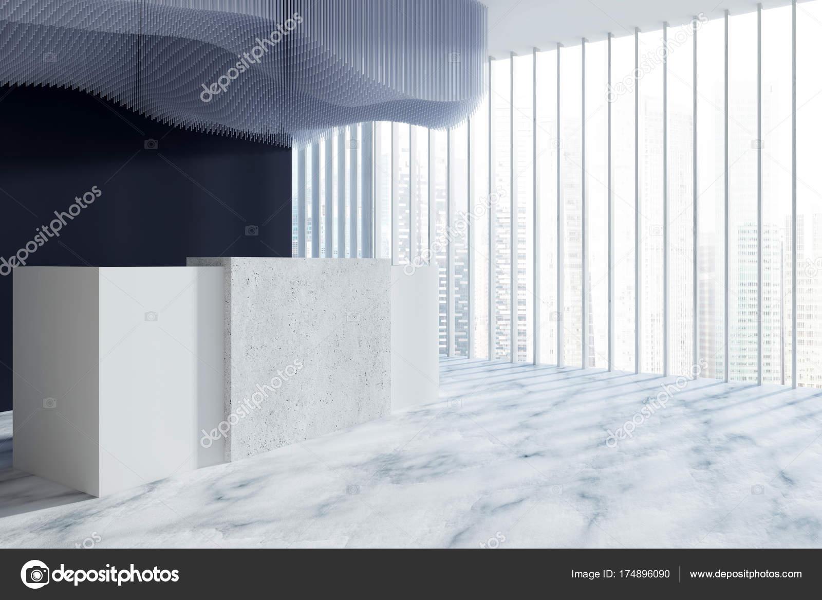 Salle de réception noir baie vitrée u photographie denisismagilov