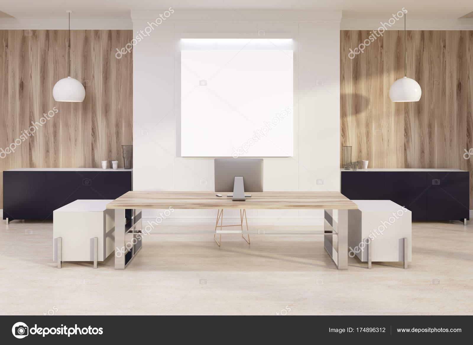 Weiß und Holz Chef s Büro, poster — Stockfoto © denisismagilov ...