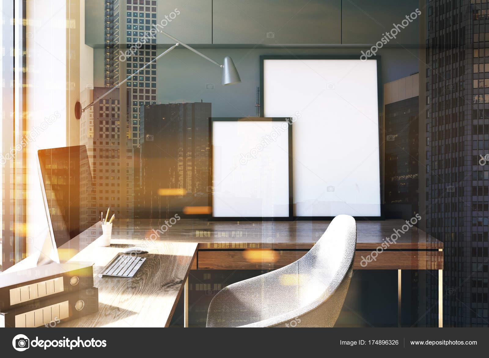 Home-Office grau Interieur, Loft getönt — Stockfoto © denisismagilov ...
