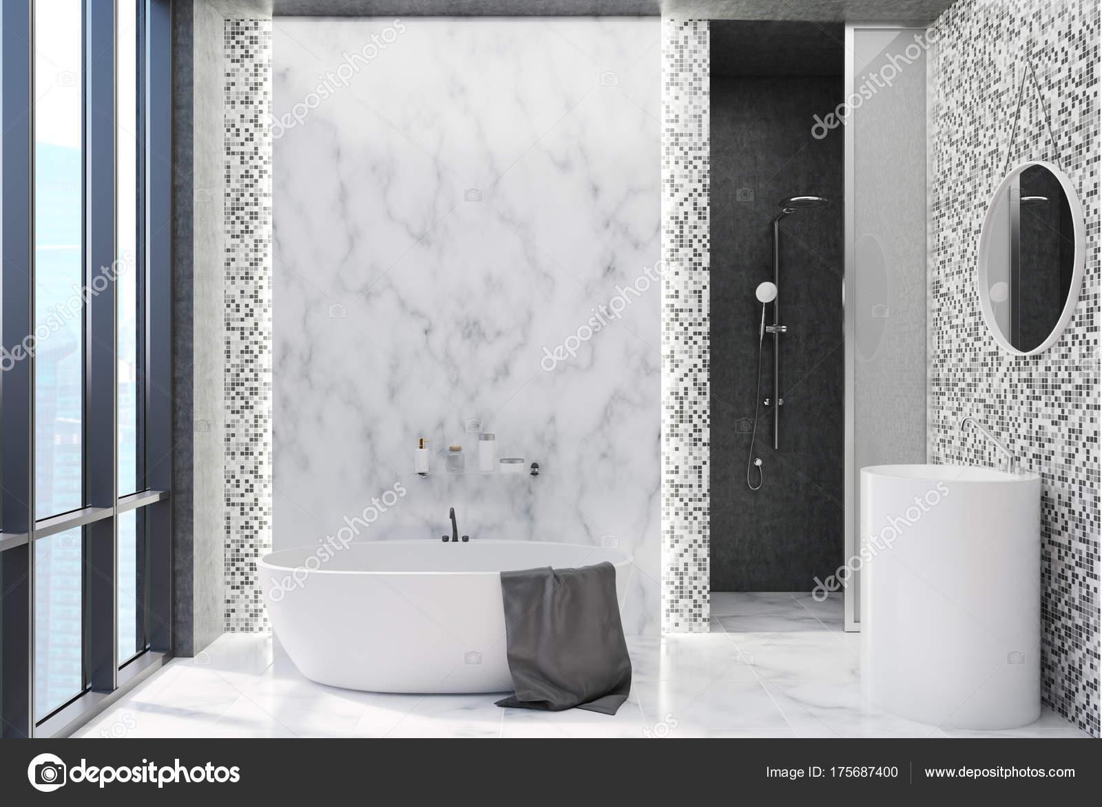 Badkamer Grijze Tegels : Grijze tegels badkamer u2014 stockfoto © denisismagilov #175687400