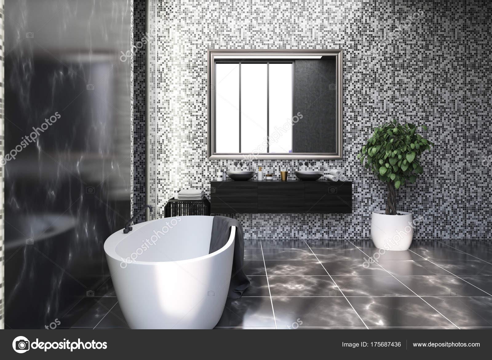 Suelo marmol negro | Lado negro de cuarto de baño de mármol y ...