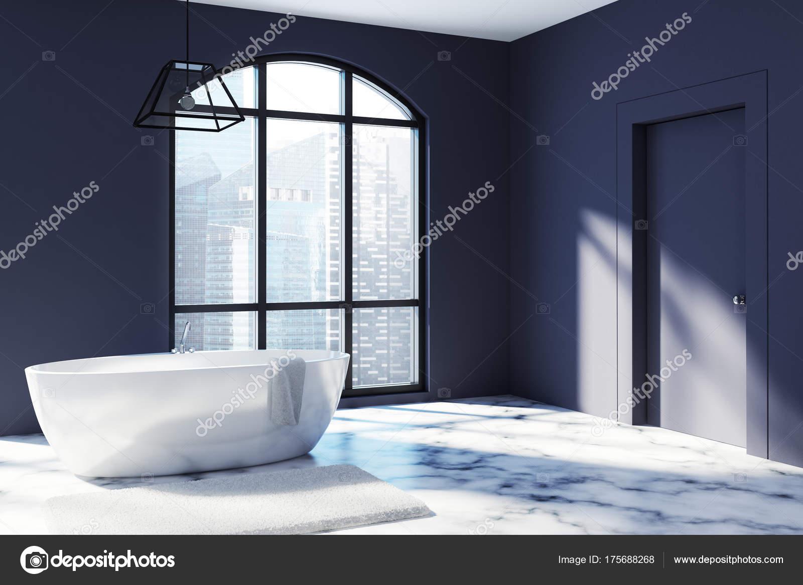 Marmeren Badkamer Vloer : Zwarte badkamer hoek marmeren vloer u stockfoto denisismagilov