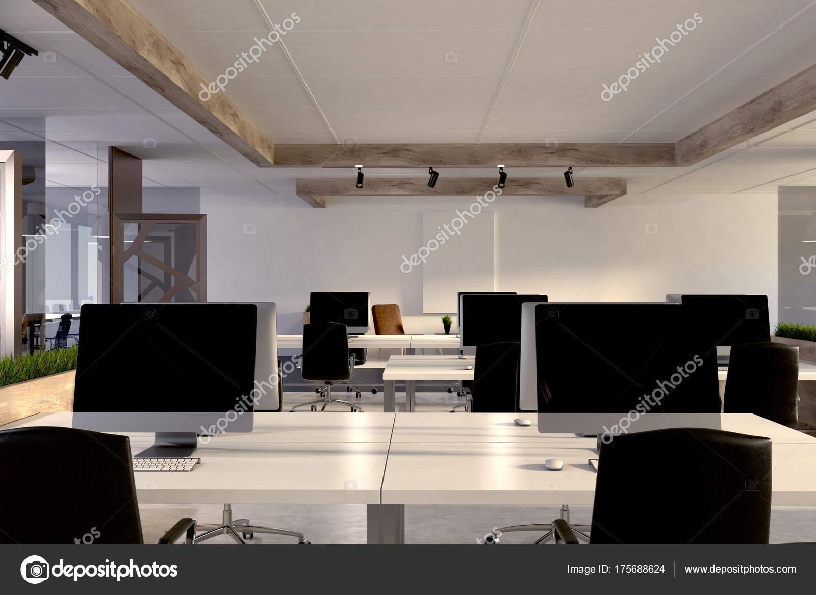 Scrivania Ufficio In Legno : Computer su una scrivania ufficio in legno u2014 foto stock