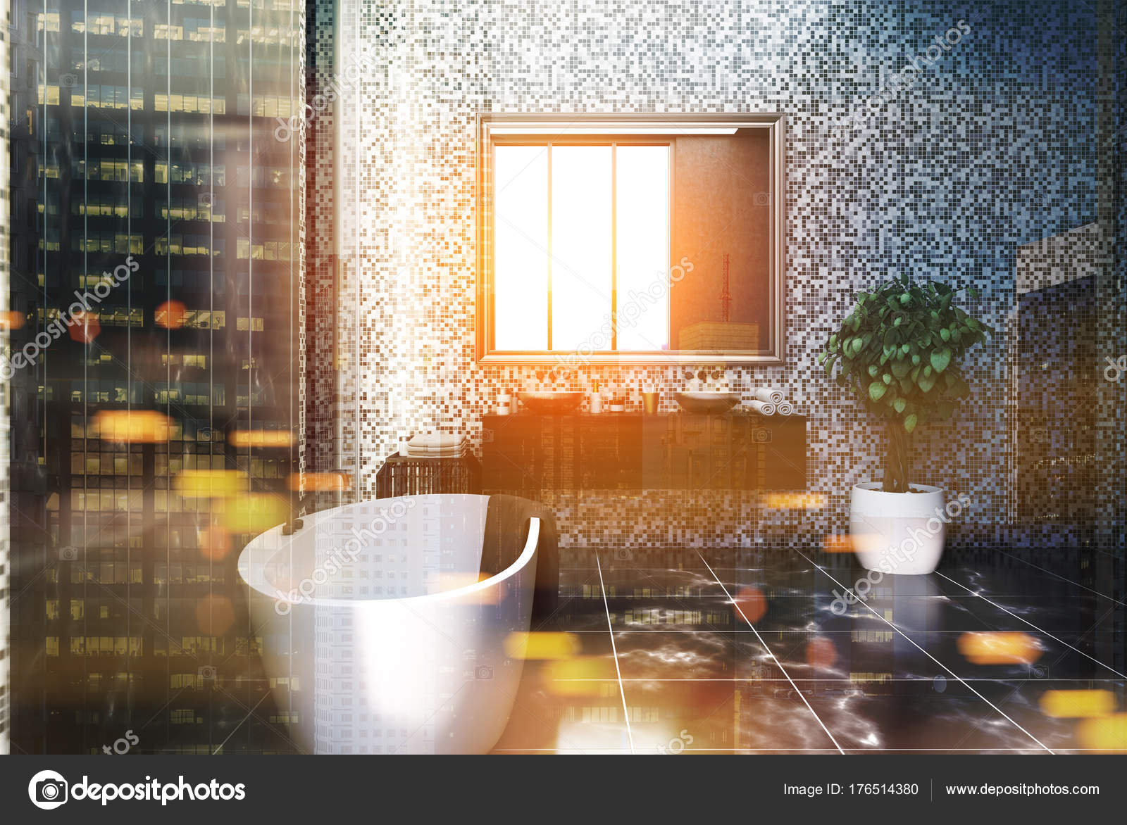Cime di marmo durevoli del lavandino del bagno cime di marmo di