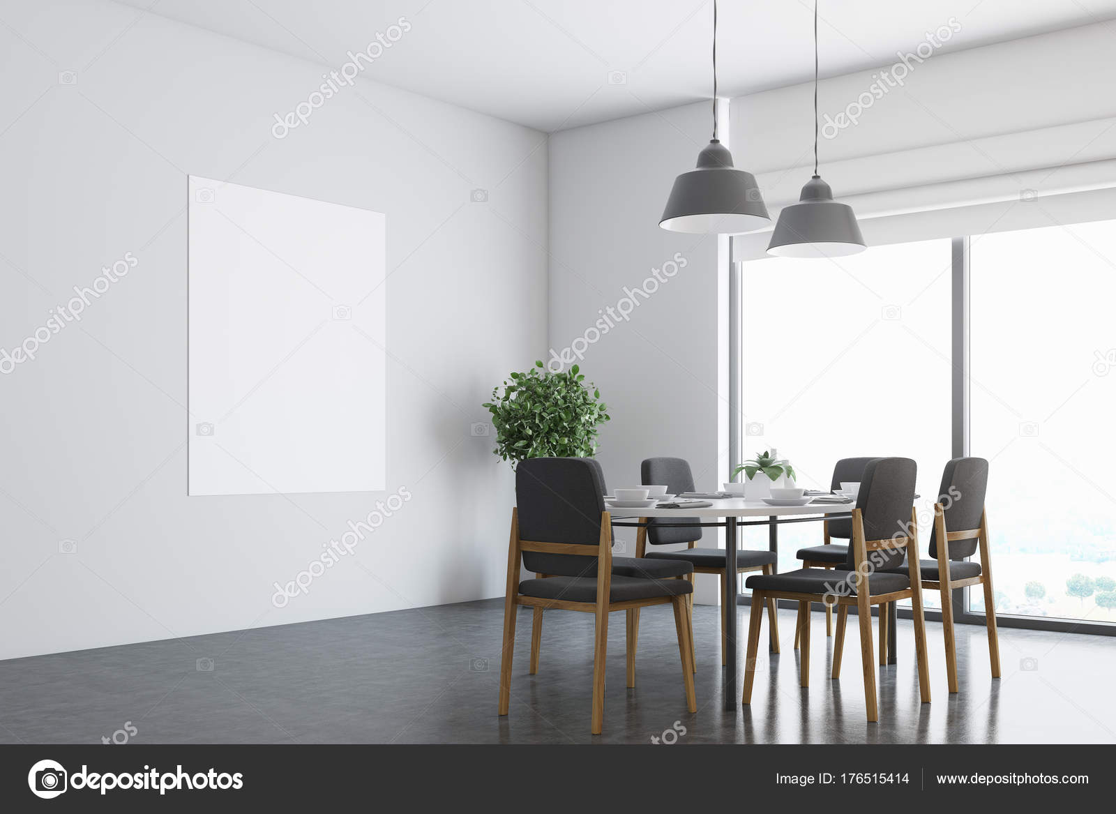 Witte eetkamer hoek, poster — Stockfoto © denisismagilov #176515414