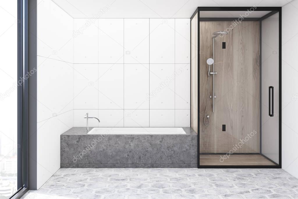 Witte Tegels Badkamer : Witte tegels badkamer interieur u stockfoto denisismagilov