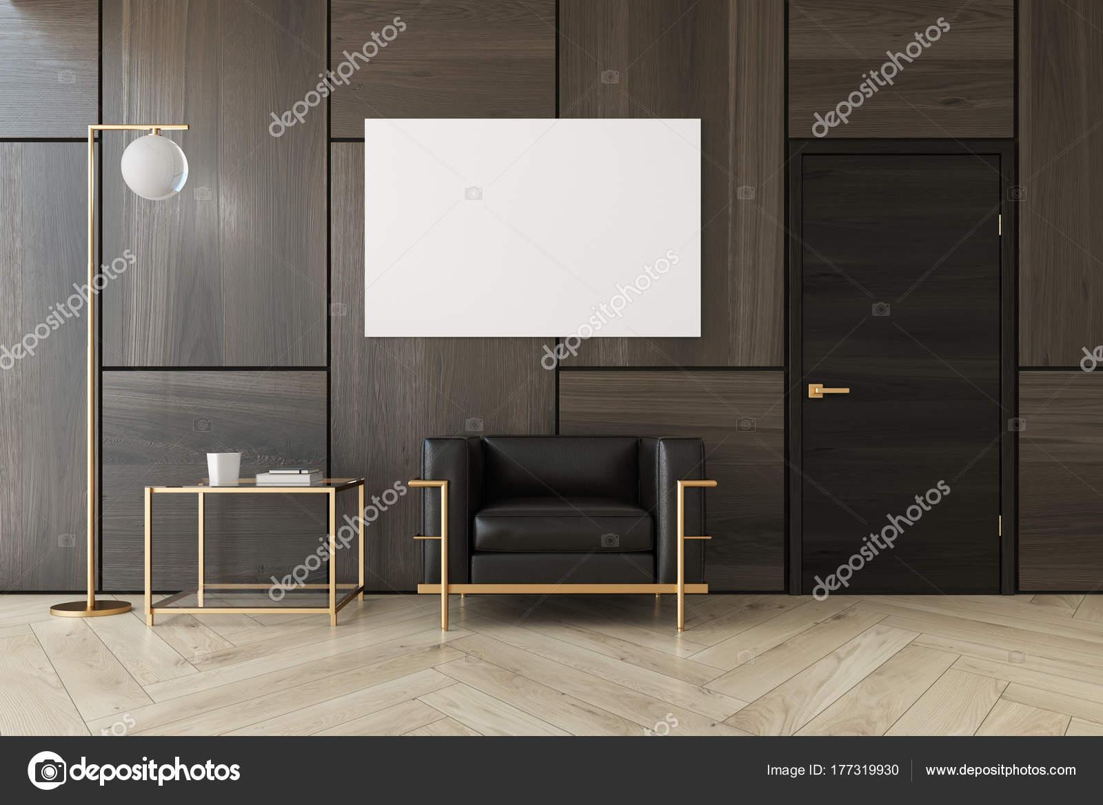 Salon marron, fauteuil, affiche — Photographie denisismagilov ...