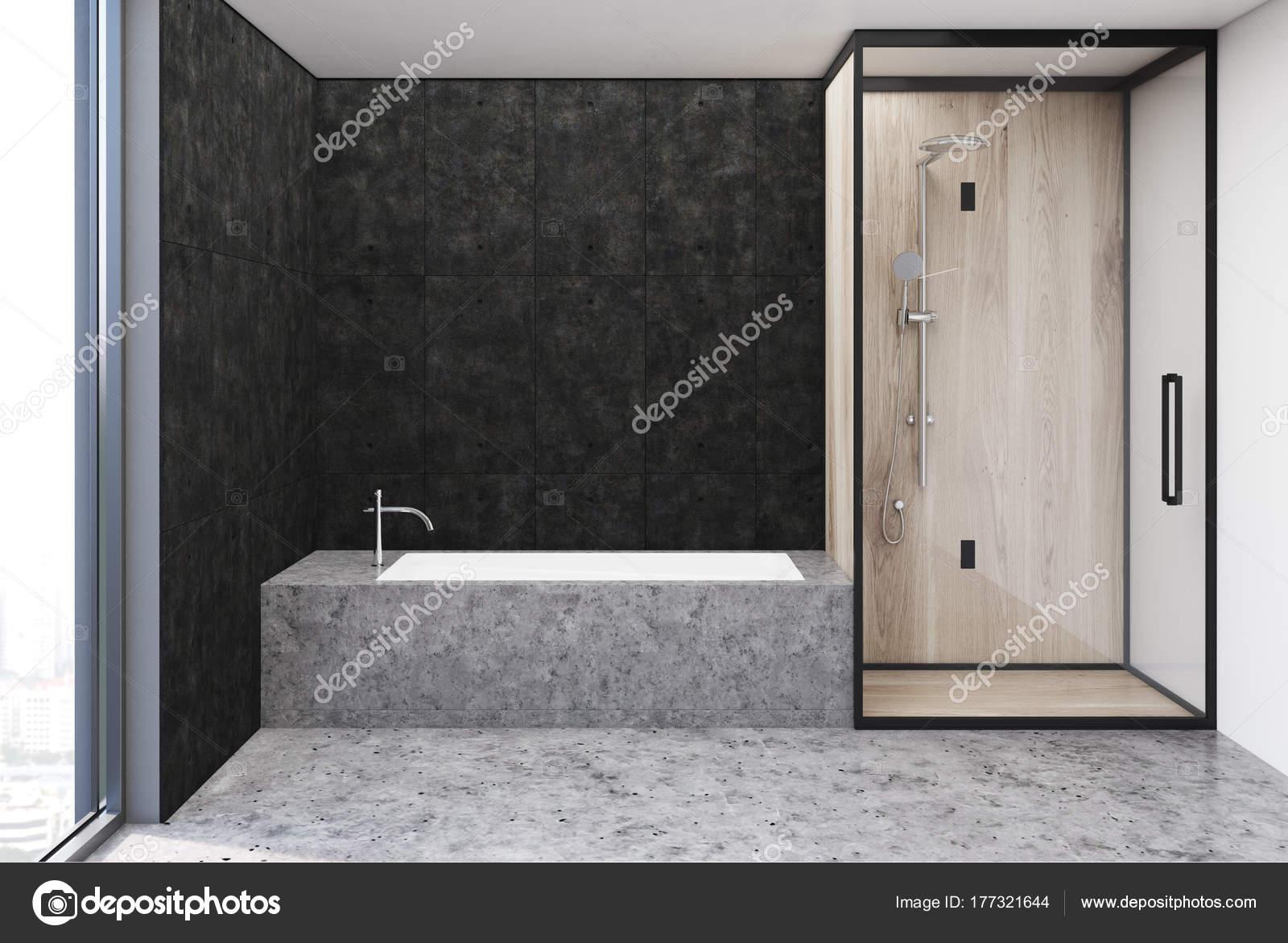 Donker grijze badkamer interieur — Stockfoto © denisismagilov #177321644