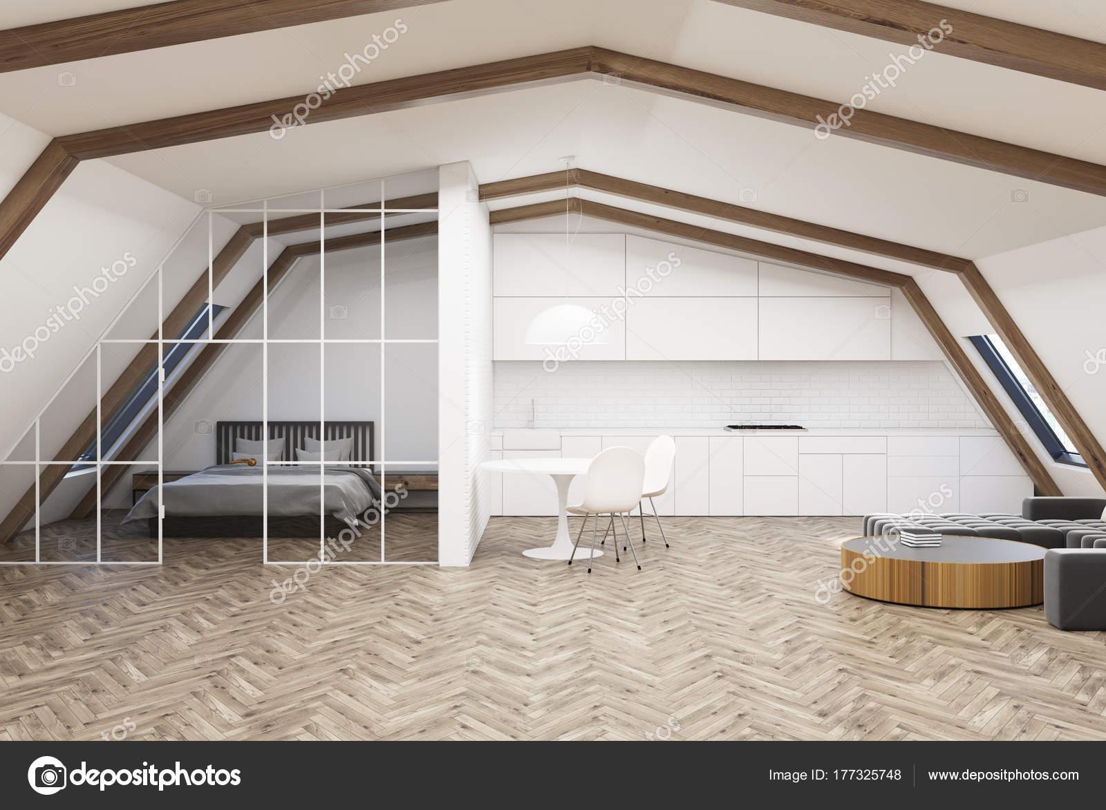 Wohnzimmer Grau Holz : Attic wohnzimmer grau sofa bett holz u2014 stockfoto © denisismagilov
