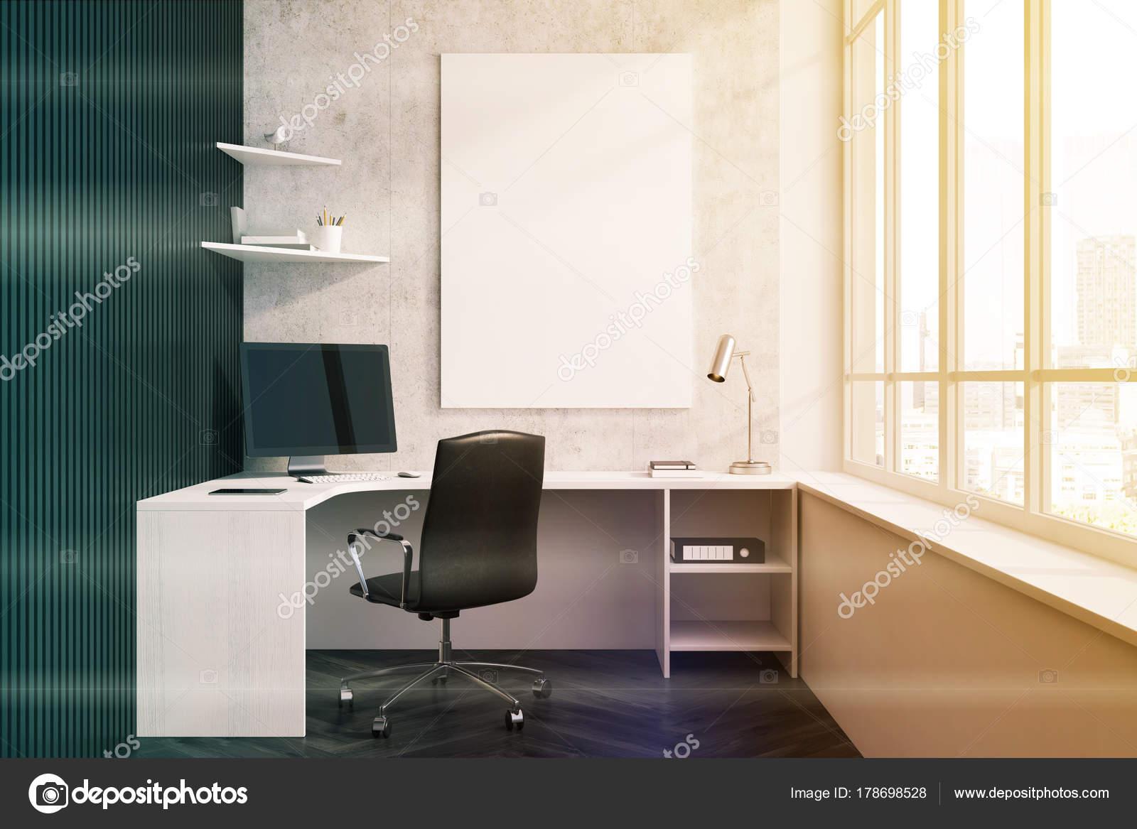 Gros plan intérieur béton noir siège social tonifié u photographie