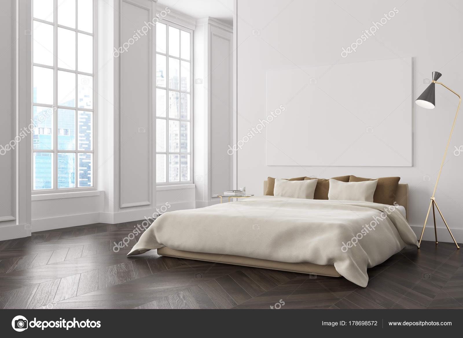 coin chambre à coucher blanc, affiche — photographie denisismagilov