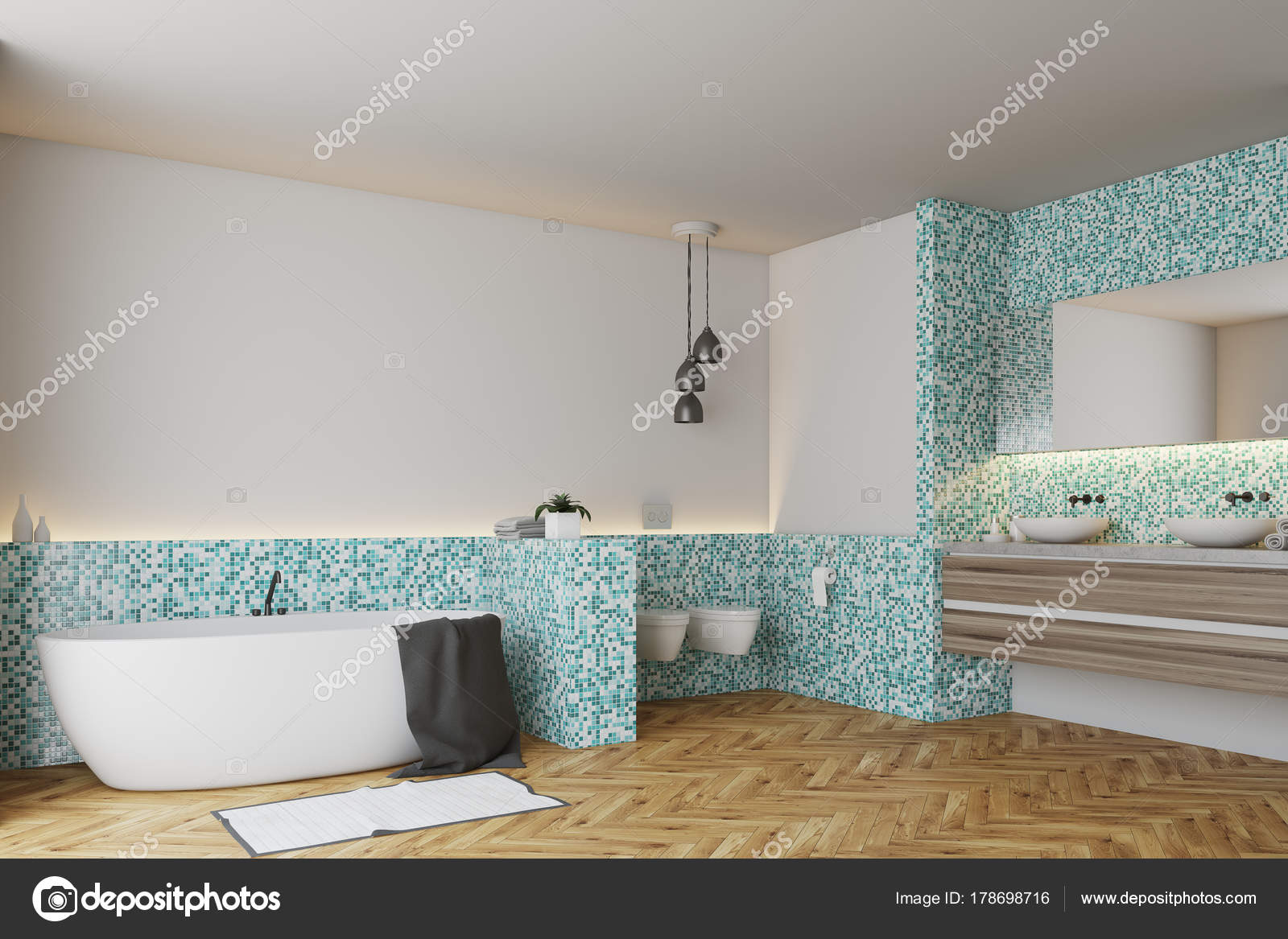 Mattonelle Bagno Verde Acqua : Mattonelle verdi bagno e wc angolo u foto stock denisismagilov