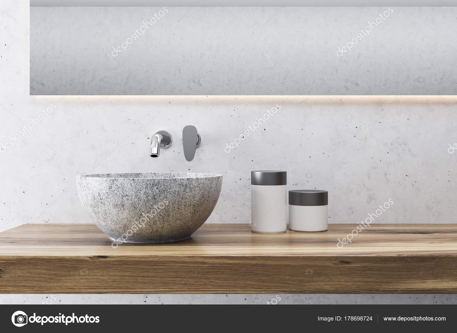 Badkamer Wasbak Kom : Grijze badkamer wastafel close up u2014 stockfoto © denisismagilov
