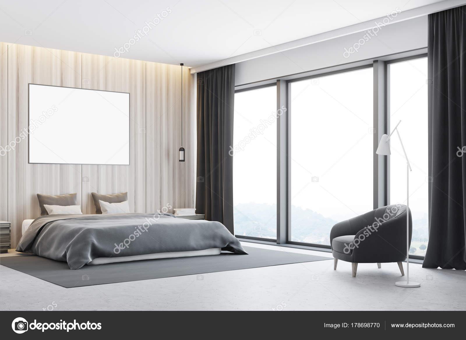 coin chambre à coucher en bois, poster — photographie denisismagilov