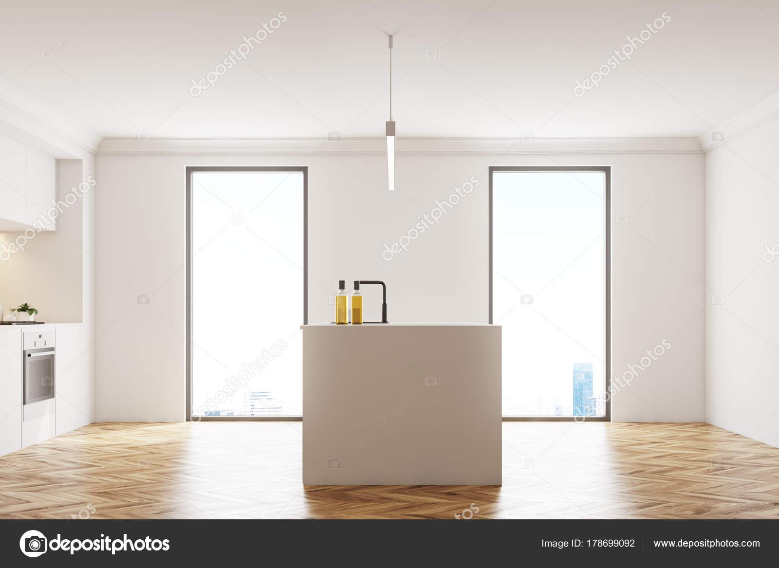 Cucina bianca in legno piano lato — Foto Stock © denisismagilov ...