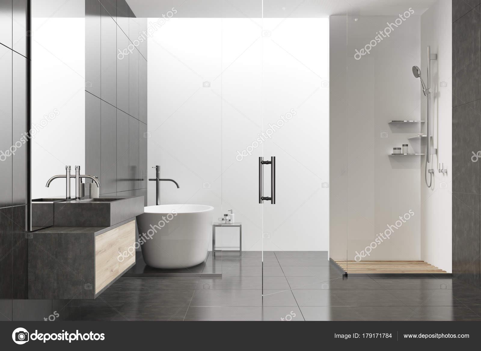 zwart-witte badkamer — Stockfoto © denisismagilov #179171784