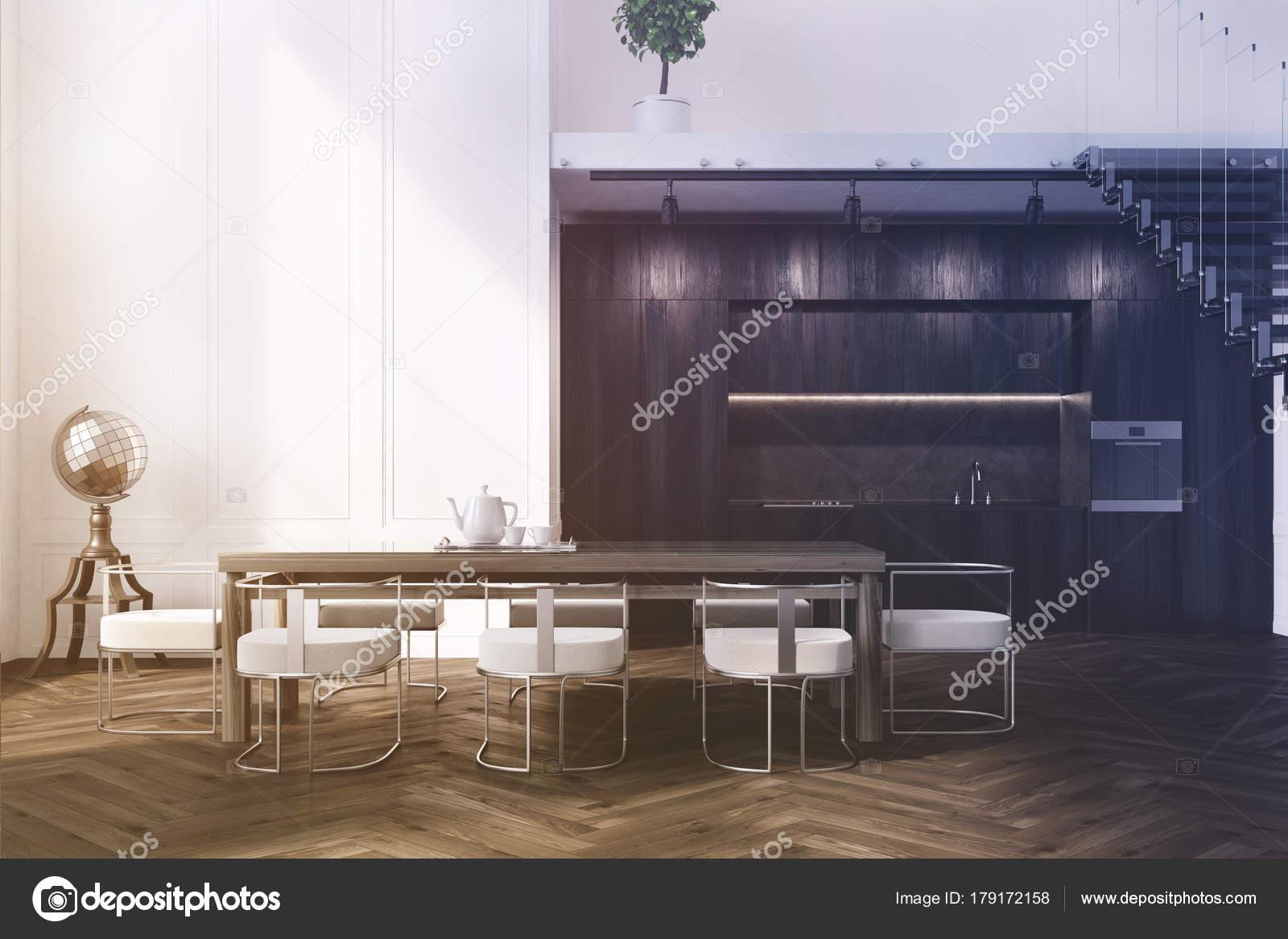 Wit eetkamer, sofa en tabel toned — Stockfoto © denisismagilov ...