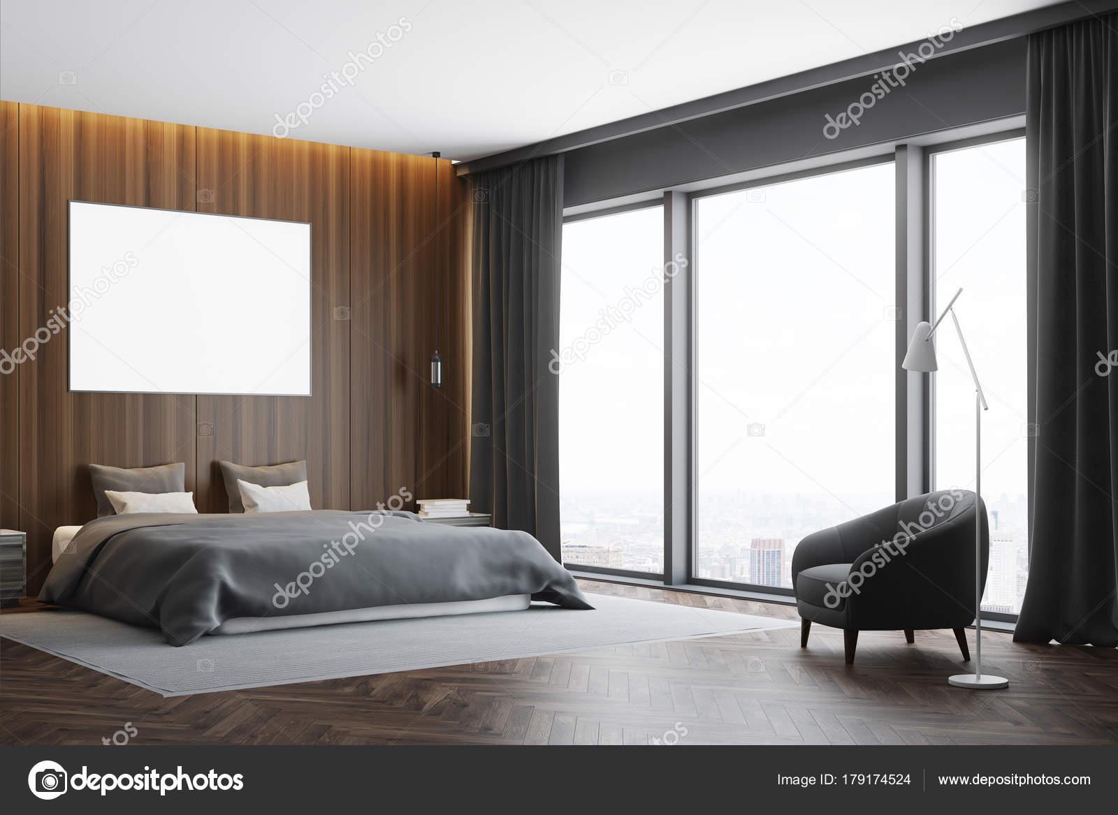 Dunkles Holz Schlafzimmer Ecke, poster — Stockfoto © denisismagilov ...