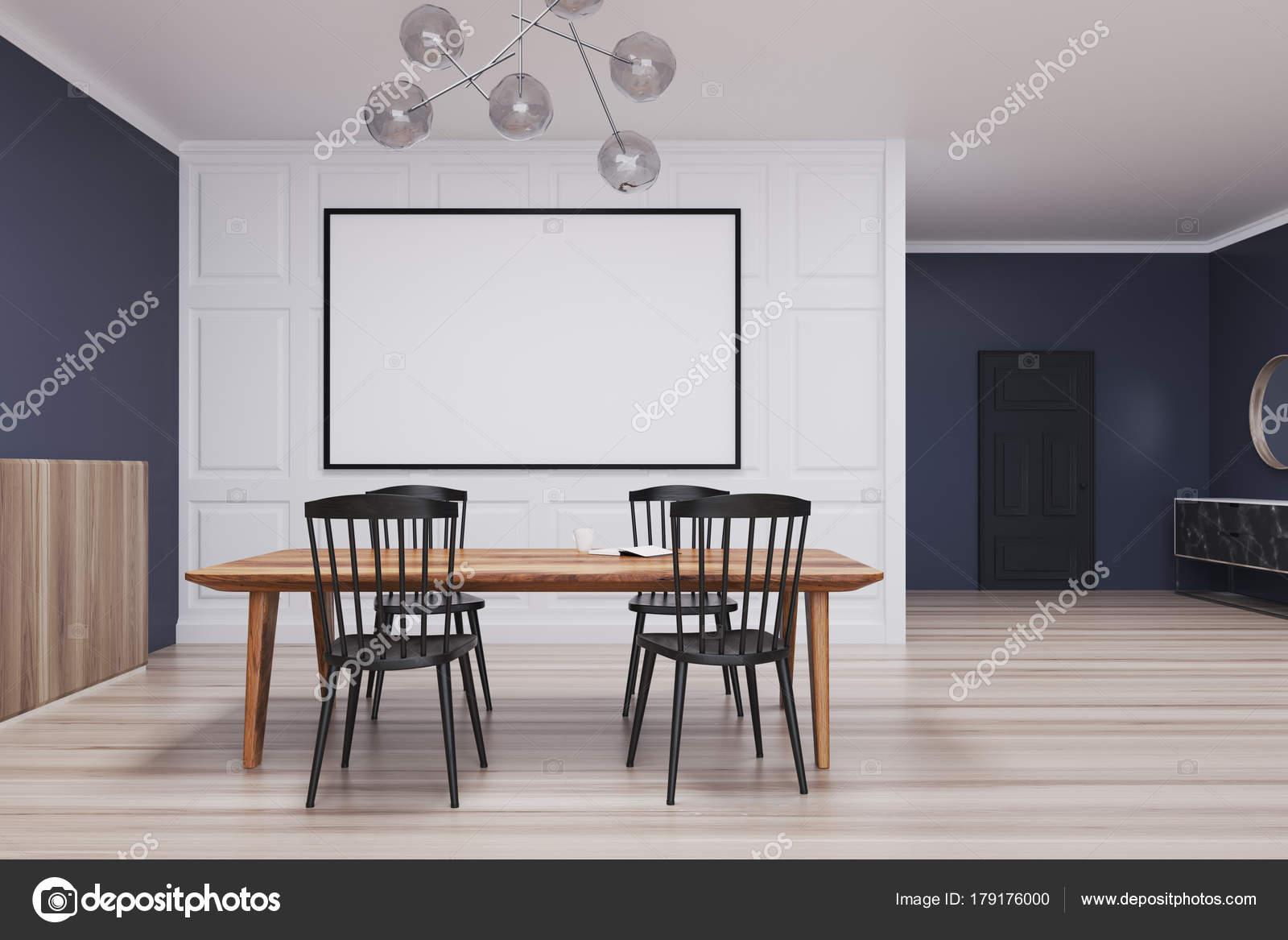 Esszimmer Vorhaenge Modell : Blau und weiß esszimmer lange plakat u2014 stockfoto © denisismagilov