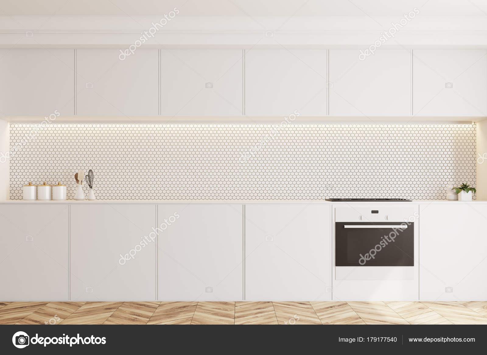 Branco Com Azulejos Cozinha Forno Stock Photo Denisismagilov