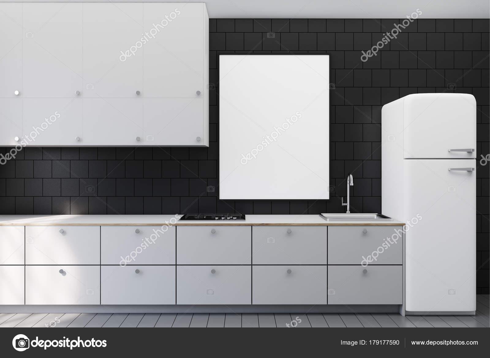 Nero piastrelle cucina poster u2014 foto stock © denisismagilov #179177590