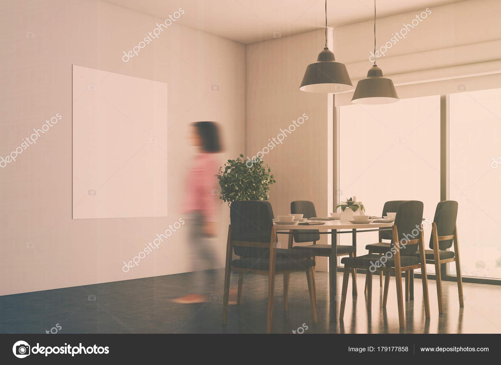 Witte eetkamer hoek, poster vervagen — Stockfoto © denisismagilov ...