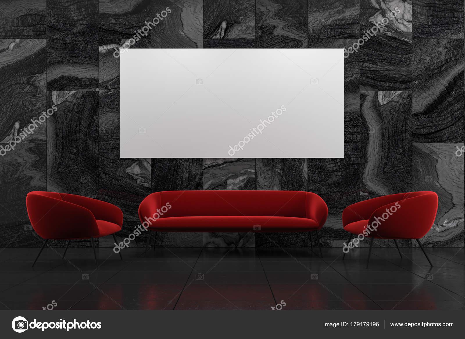 Geräumig Sofa Und Sessel Sammlung Von Schwarzer Marmor Wohnzimmer Interieur Mit Ein Rotes