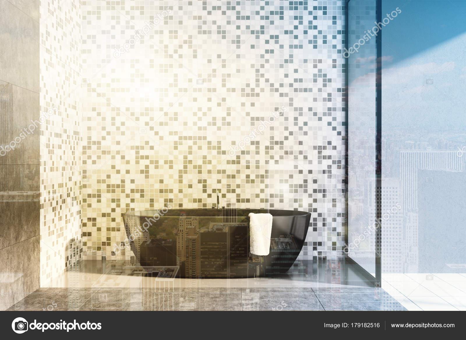 Cemento e piastrelle bagno idromassaggio tonica u2014 foto stock