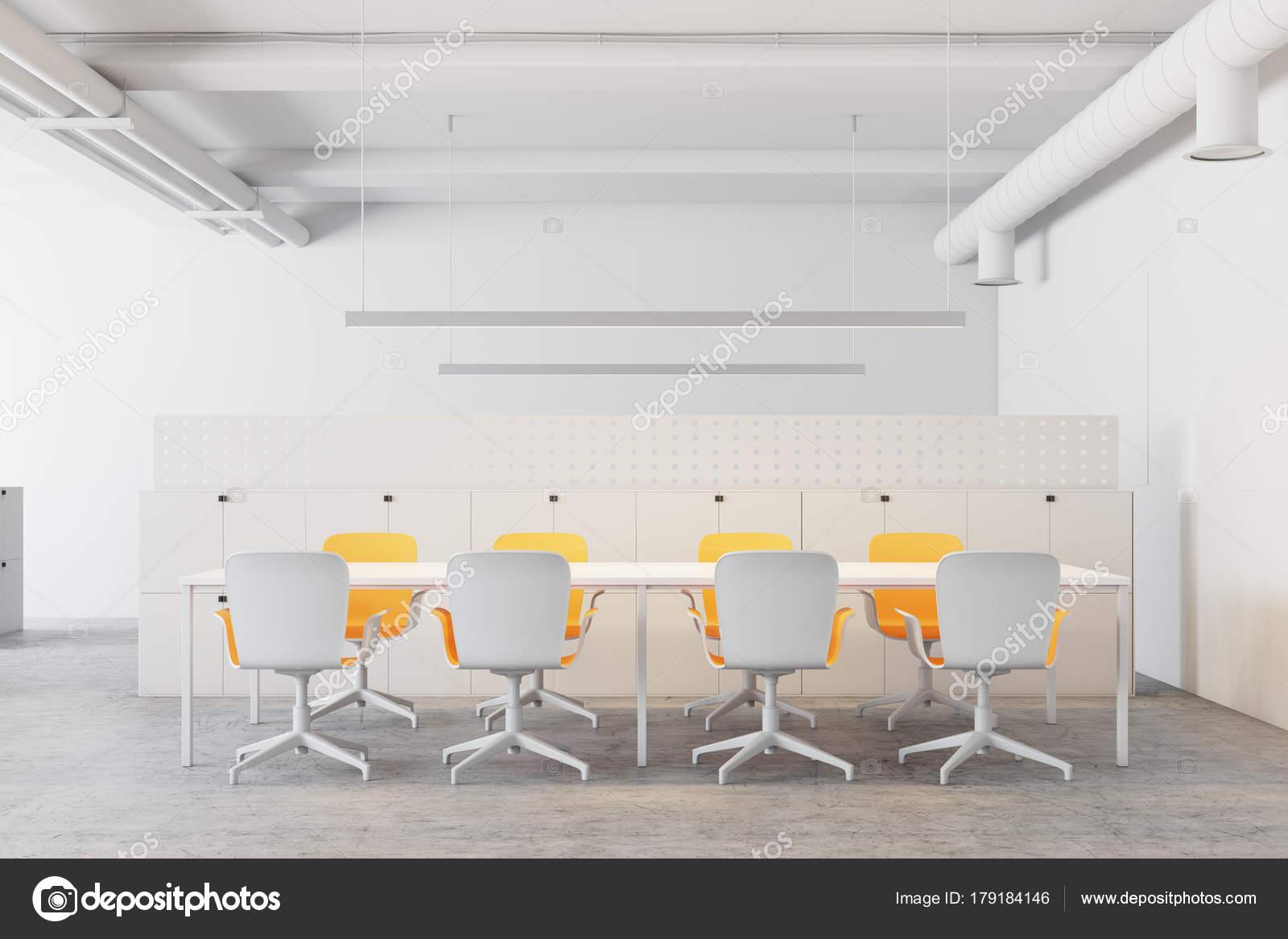 White Meeting Room Yellow Chairs Stock Photo Denisismagilov