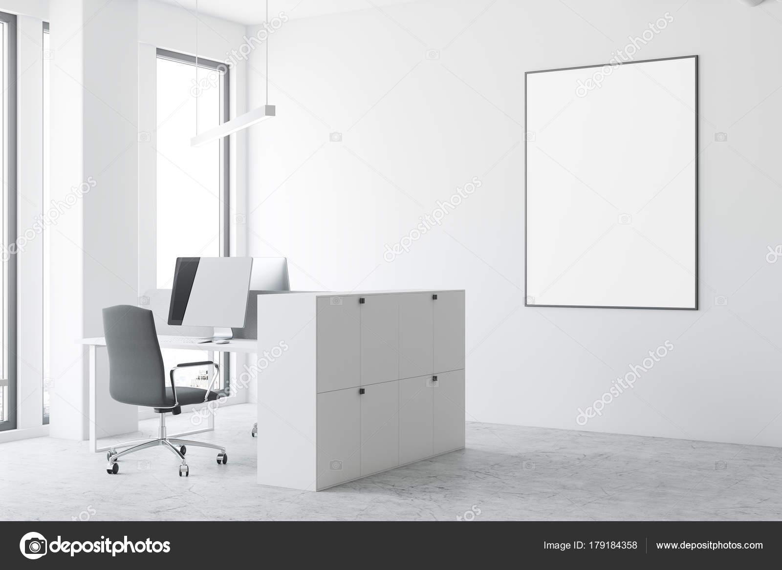 Open Space Büro, gerahmte Poster weiß — Stockfoto © denisismagilov ...