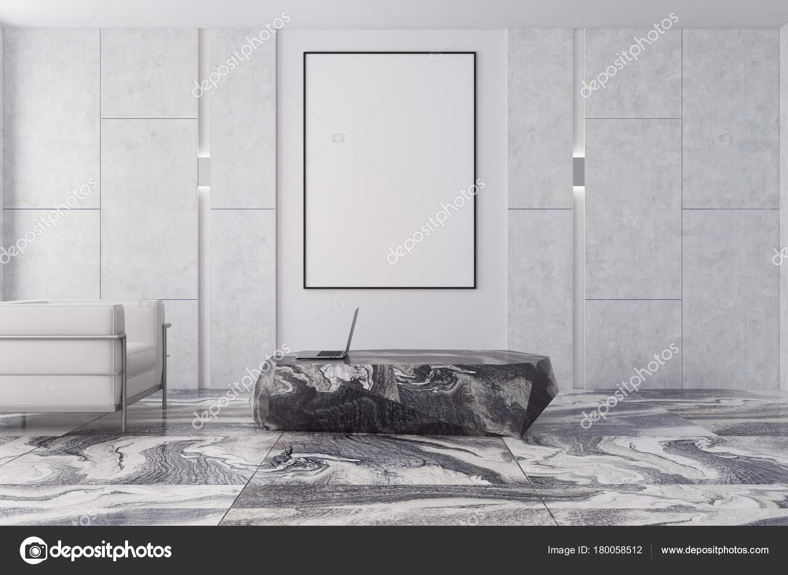 Marmer In Woonkamer : Witte en bruine woonkamer grijze marmer poster u stockfoto