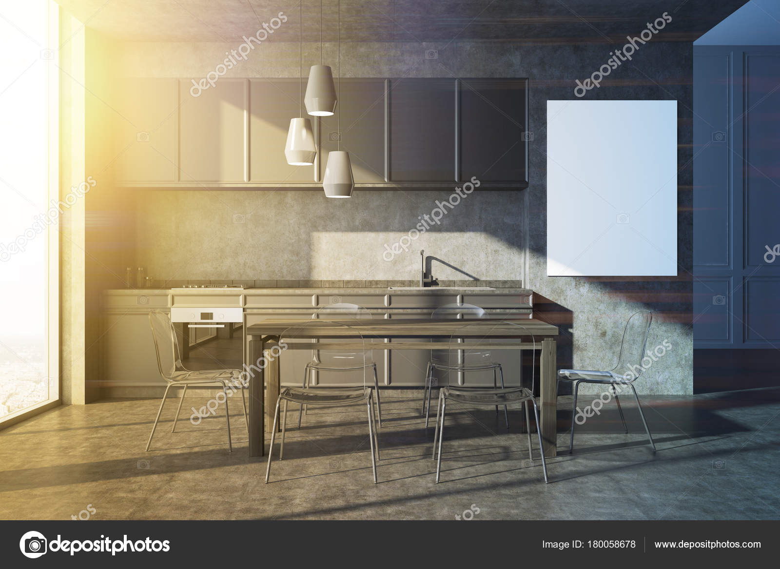 graue kuche welche arbeitsplatte. Black Bedroom Furniture Sets. Home Design Ideas