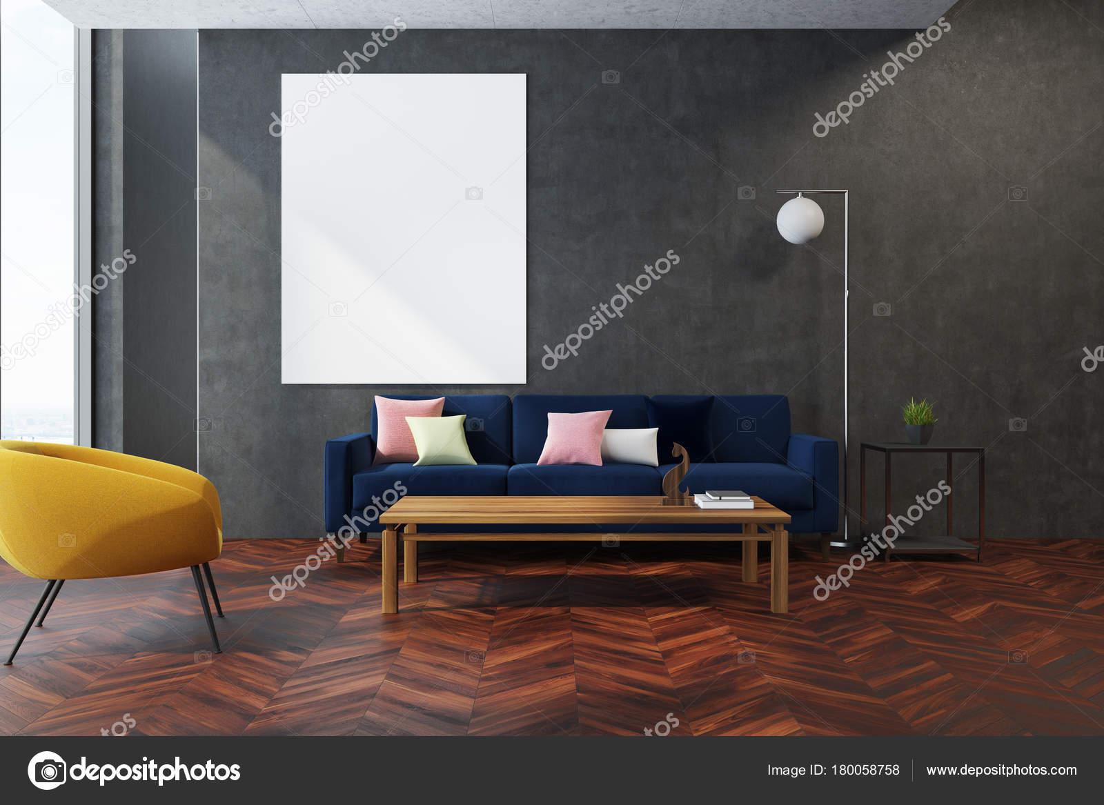 Gelb grau Wohnzimmer Sessel — Stockfoto © denisismagilov #180058758