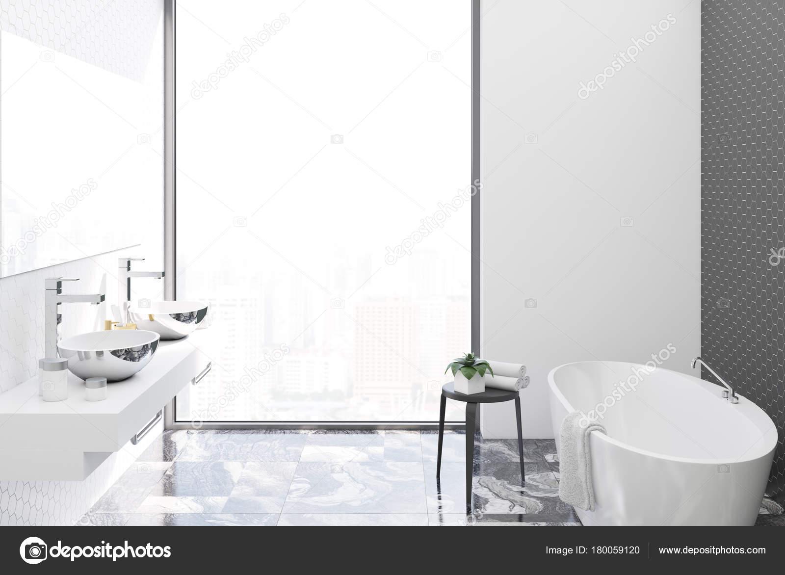 Lavandini bagno bianco e nero metallo u2014 foto stock © denisismagilov