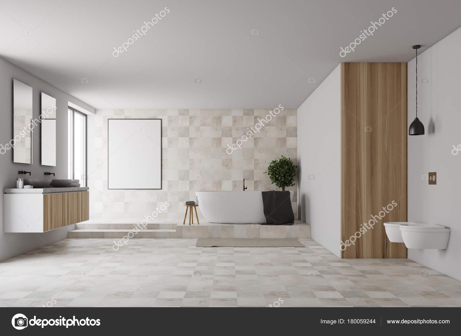 Fliesen und weiße Badezimmer, poster — Stockfoto © denisismagilov ...