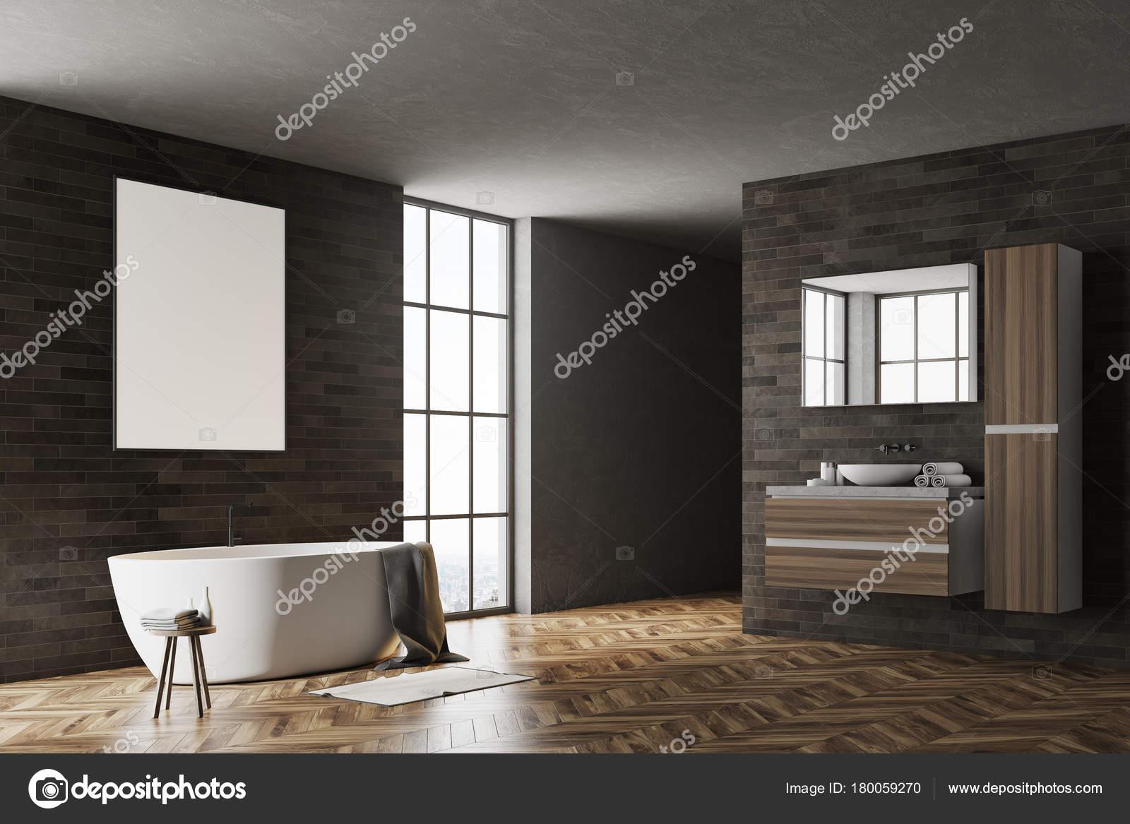 Bagno Moderno Nero E Legno