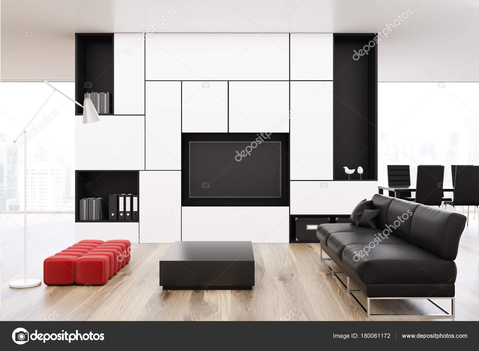 Red black and white living room decorating ideas | White ...