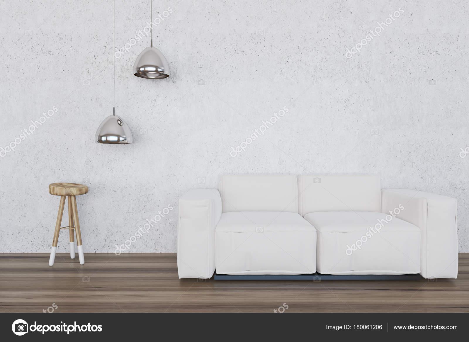 Wit woonkamer, witte Bank — Stockfoto © denisismagilov #180061206