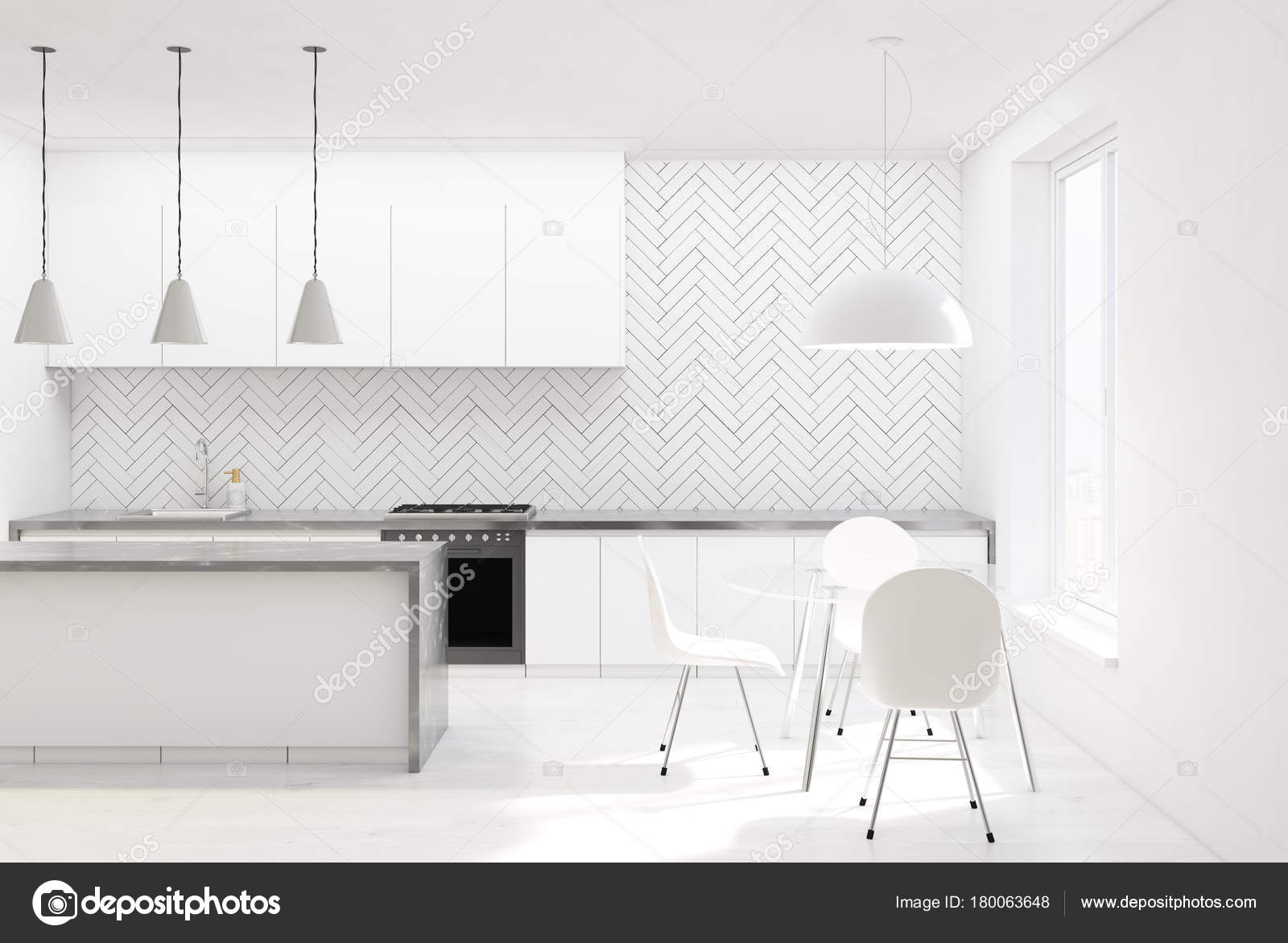 Houten Witte Stoelen.Witte Houten Keuken Witte Stoelen Stockfoto C Denisismagilov
