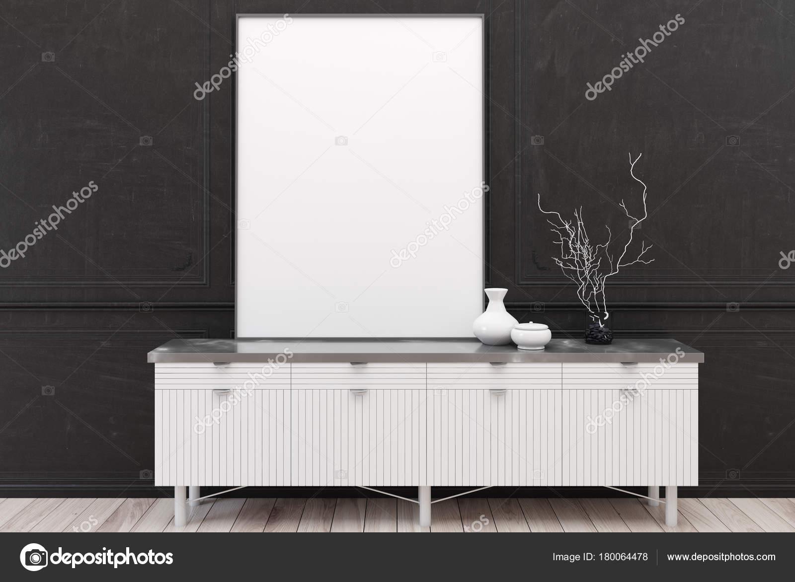 Weiße kommode plakat schwarz u2014 stockfoto © denisismagilov #180064478