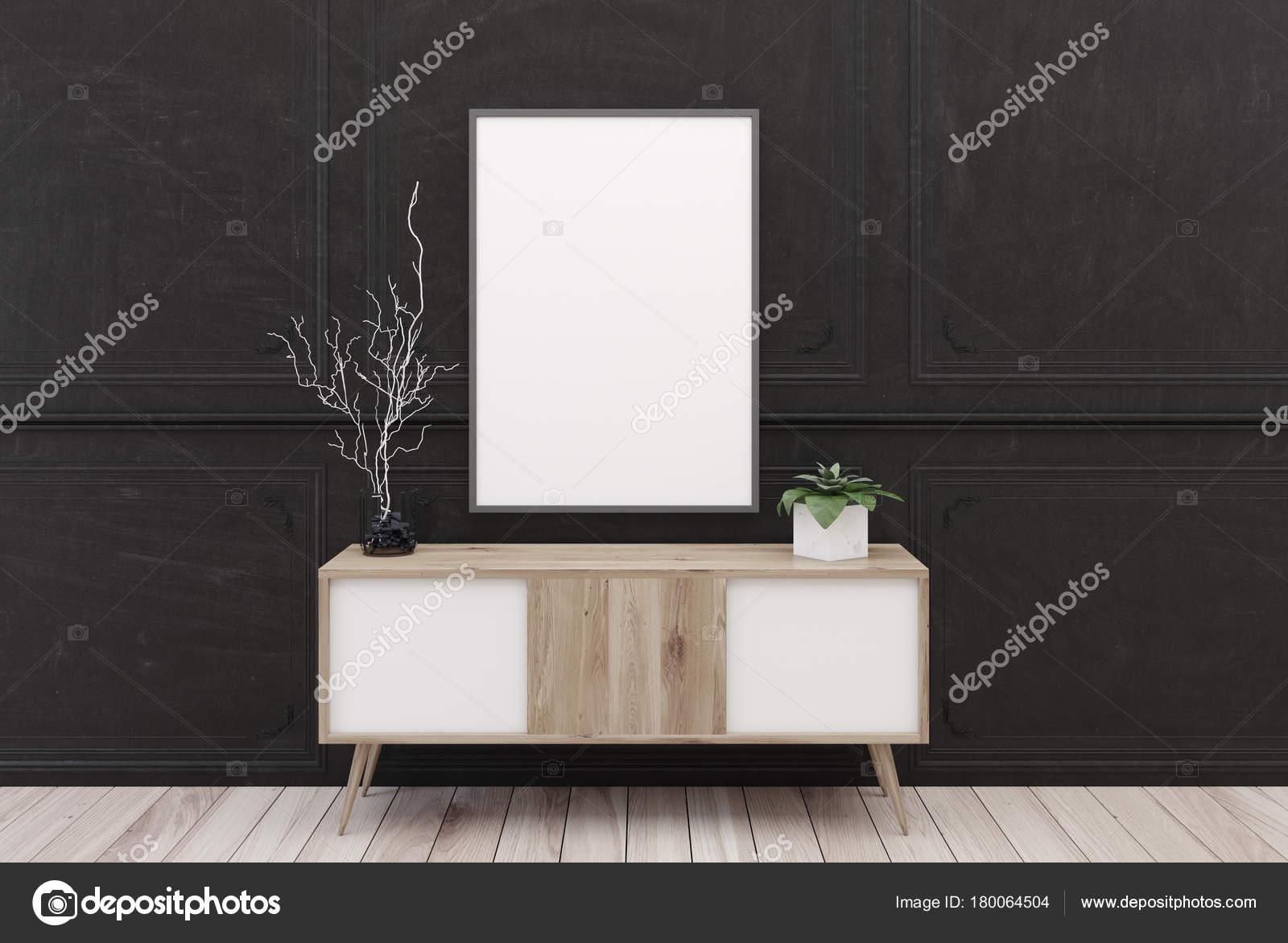 Hölzerne kommode poster schwarz u2014 stockfoto © denisismagilov
